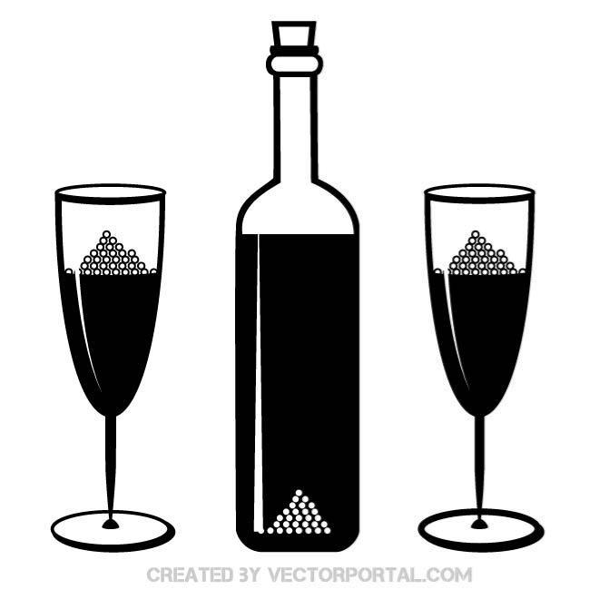 660x660 Free Vector Bottle Silhouettes 123freevectors