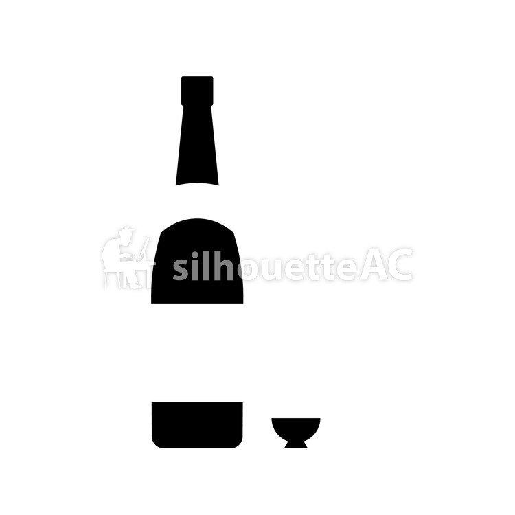 750x750 Free Vector Silhouettes Okoko, Alcohol, An Illustration