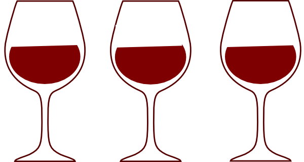 600x320 Wine Glass Spilling Silhouette Clipart