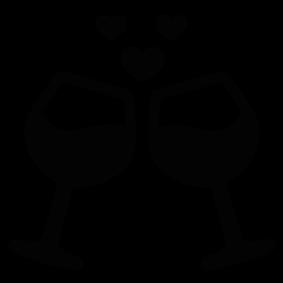 283x283 Wine Glasses Hearts Silhouette Silhouette Of Wine Glasses Hearts