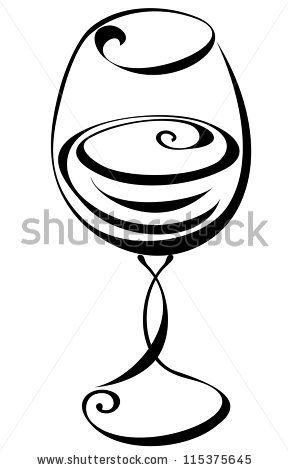288x470 Wine Glass Silhouette Stock Photos, Wine Glass Silhouette Stock