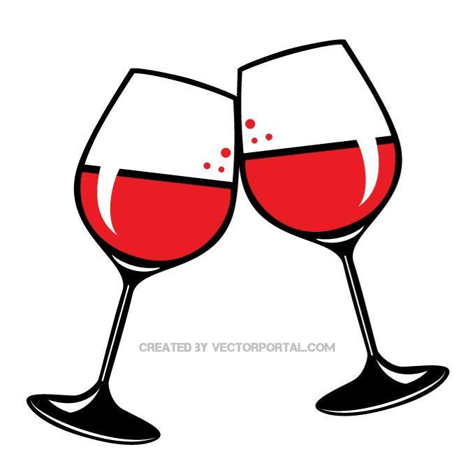 660x660 Wine Glasses Clip Art