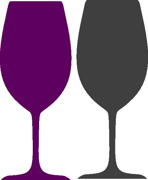 492x596 Purple And Gray Wine Glasses Clip Art