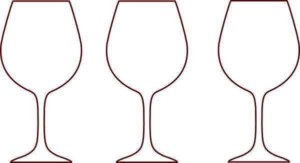 600x327 Wine Glass Wine Bottle Outline Clipart Kid