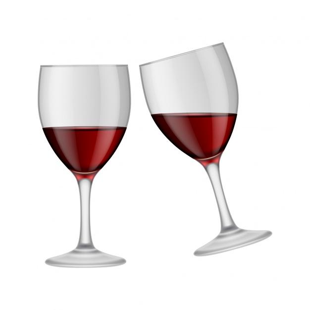 626x626 Wine Glasses Design Vector Free Download