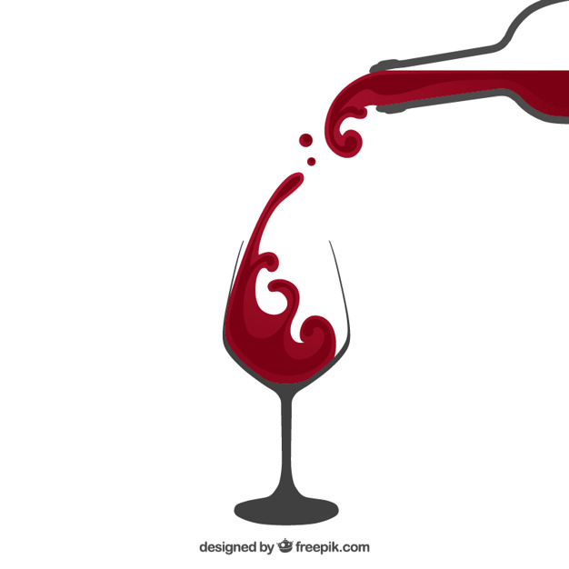 626x626 Pouring Red Wine Vector Free Download