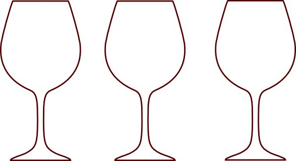 Wine Glasses Silhouette