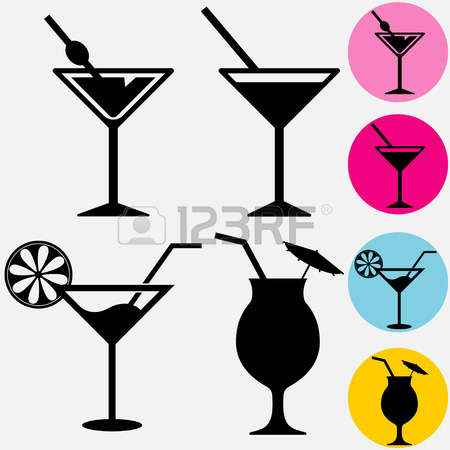 450x450 Cocktail Clipart Silhouette