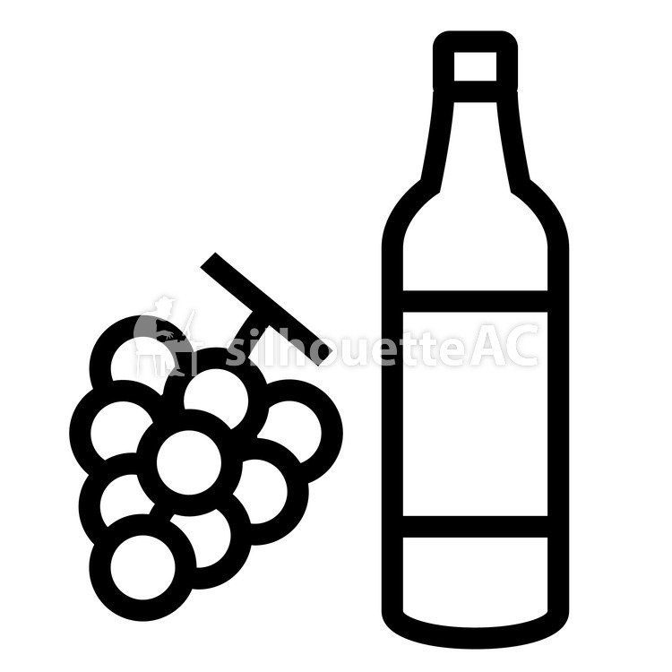 750x750 Free Silhouettes Sake, Grape, Icon