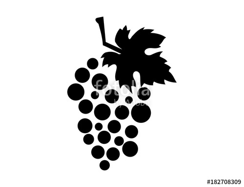 500x382 Fruit Grape And Leaf For Wine Illustration Abstract Logo
