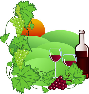 351x368 Vector Grapes Silhouette Wine Free Vector Download (6,354 Free