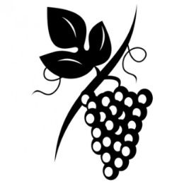 260x260 Clean Wine Grapes Vector Illustration Silhouette Plaatjes