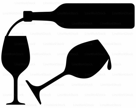 570x456 Wine Bottle Svgdrink Clipartalcohol Svgwine