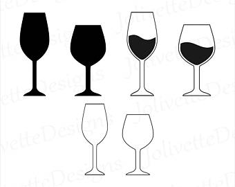 340x270 Wine Silhouette Etsy