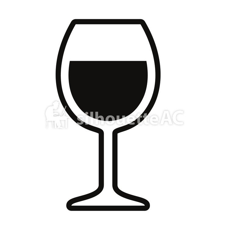 750x750 Free Silhouette Vector 1 Cup, Sake, Wine, Icon
