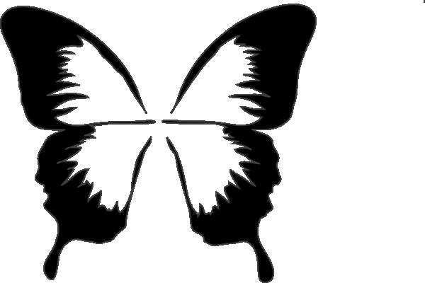 600x400 Butterfly Silhouette Clip Art