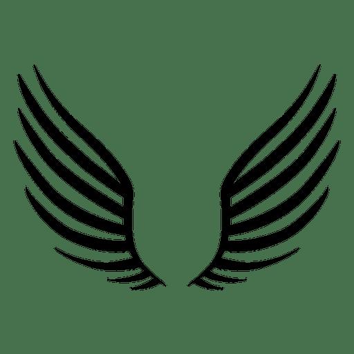 512x512 Open Wings Silhouette