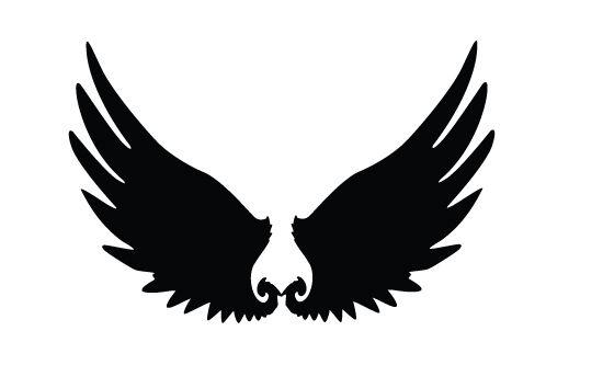 550x354 Wings Silhouette Vector Free Download Birds Vector Graphics