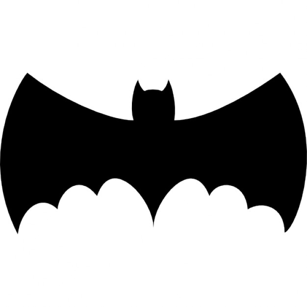 626x626 Bat With Big Wings Silhouette Icons Free Download