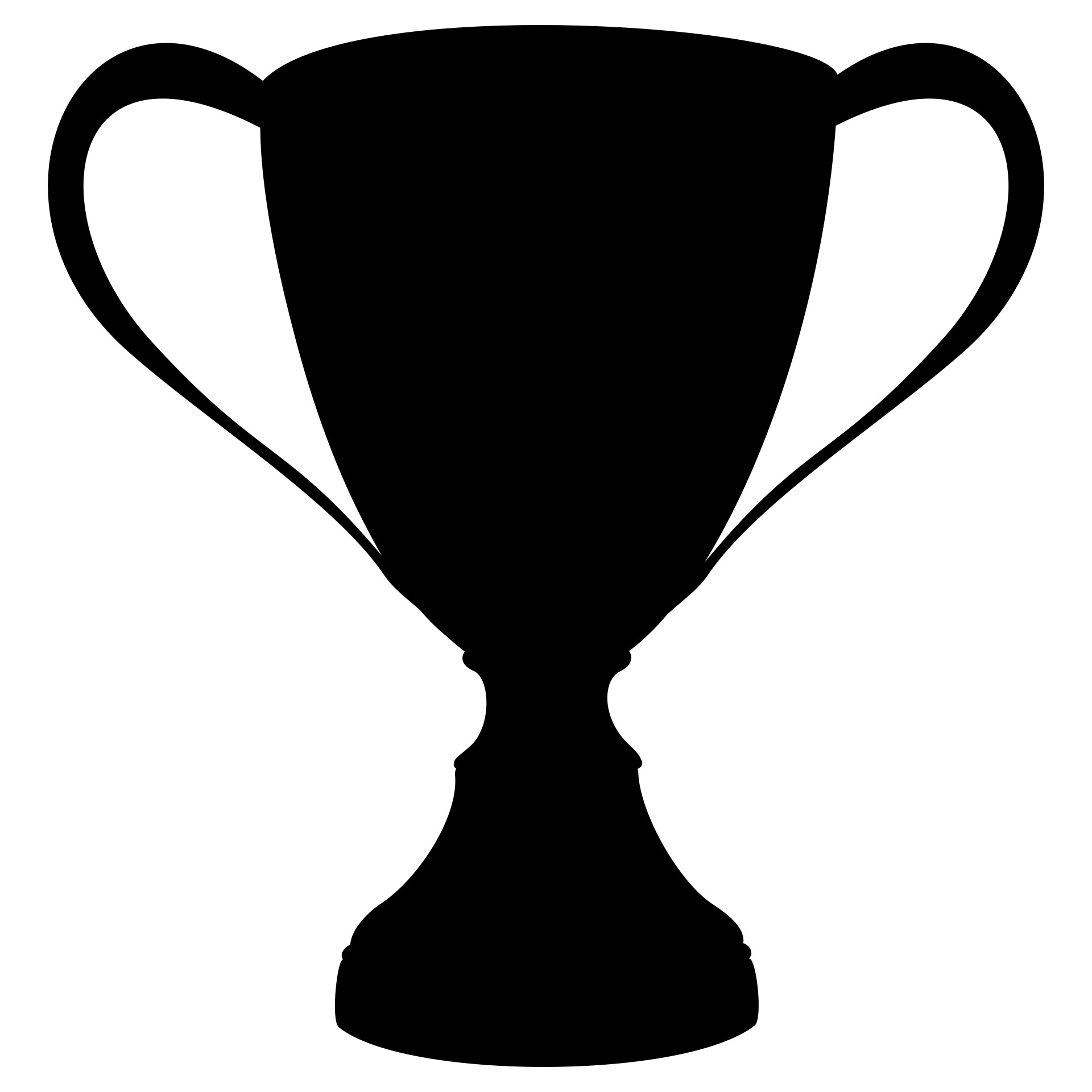 1920x1920 Gold Cup Silhouette Free Stock Photo