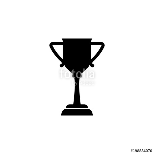 500x500 Silhouette Winner Trophy Cup Isolated Icon. Winter Sport Games