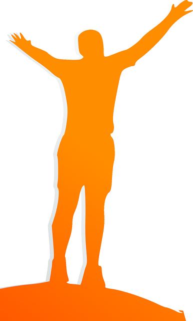 386x640 Wellness, Happy, Man, Orange, Silhouette, Winner