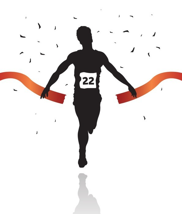 595x700 Marathon Winner Silhouette Wall Decal Wallmonkeys