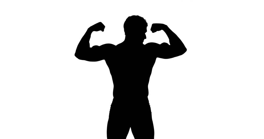 910x480 Boxer Winner Silhouette On White Background. Stock Footage Video