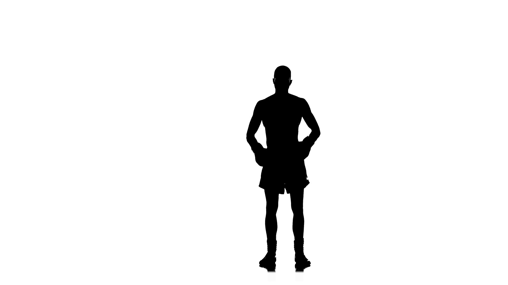 1920x1080 Boxer Winner Champion Welcomes Its Fans. Black Silhouette Stock