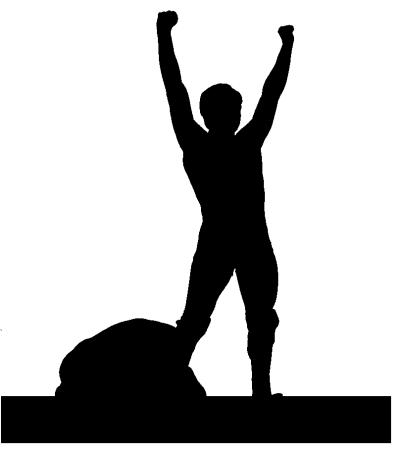 400x456 Boxing Winner Silhouette