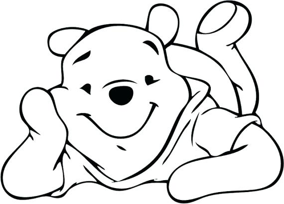 570x411 Winnie The Pooh Outline The Pooh Pooh Silhouette Pooh Character