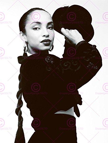 455x606 Music Photography Portrait Sade Singer Black White