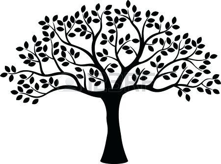Winter Tree Silhouette Vector