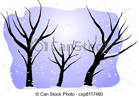 450x315 Winter Trees Stock Illustration