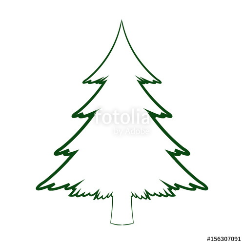 500x500 Green Silhouette Pine Tree Christmas Celebration Winter Vector
