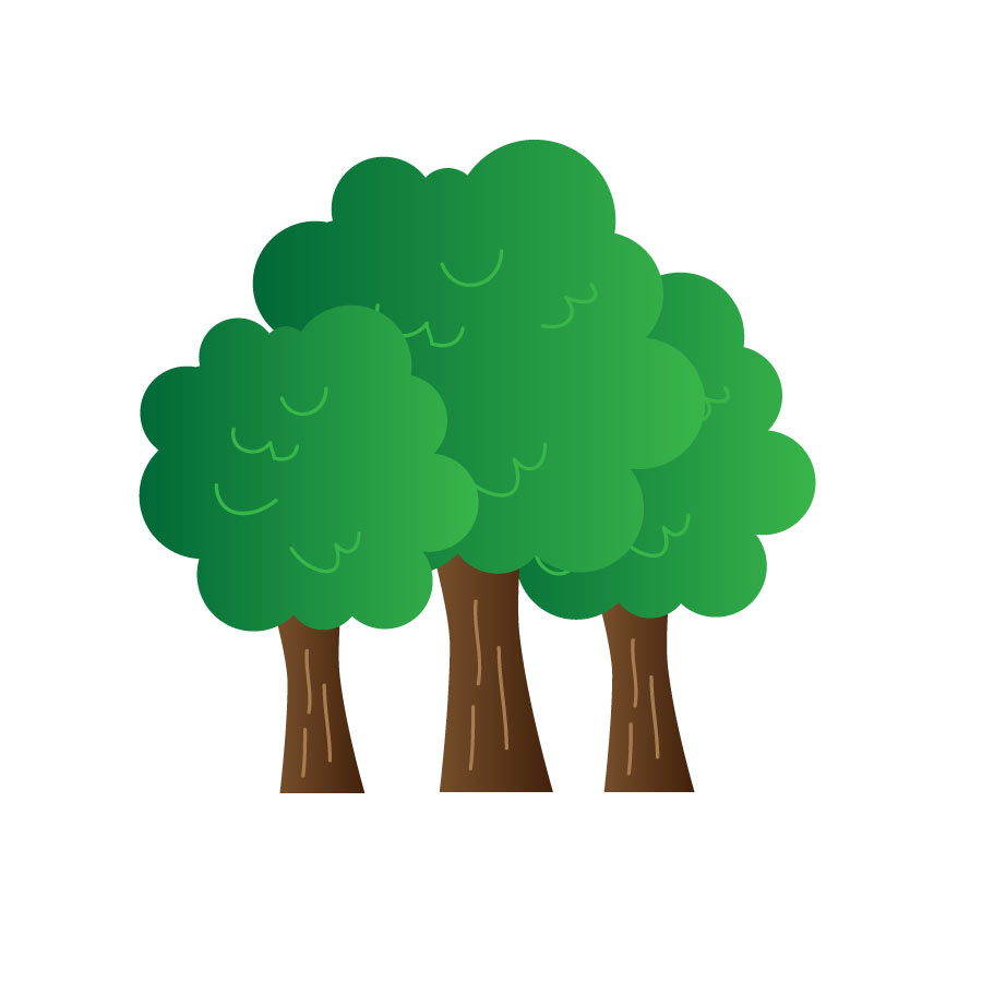 900x900 Dark Green Tree Clipart Collection