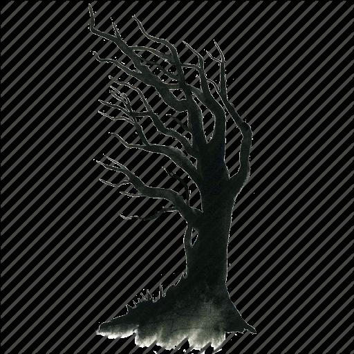 512x512 Dead, Halloween, Haunt, Haunted, Scary, Spooky, Tree, Wind, Winter