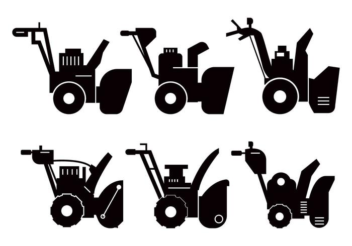 700x490 Snow Blower Silhouette Vector