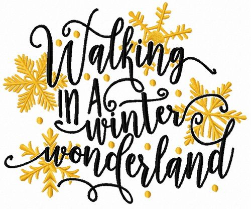 500x416 Walking In A Winter Wonderland Embroidery Design Embroidery