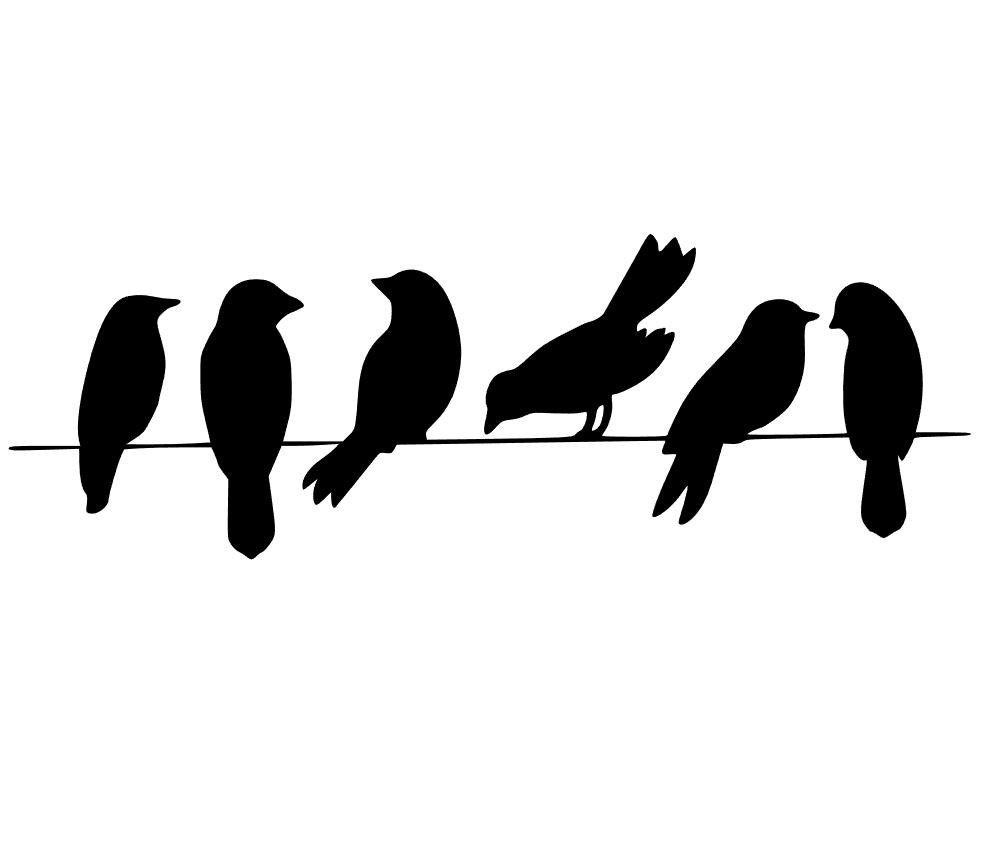 981x845 Birds On A Wire