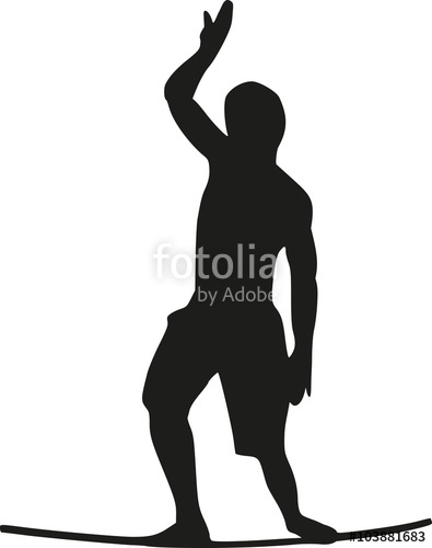 395x500 Slackline Wire Walker Silhouette Stock Image And Royalty Free