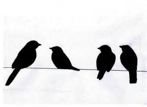 300x218 Clipart Birds On A Wire