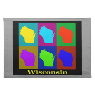 307x307 Map Of Wisconsin Placemats Zazzle