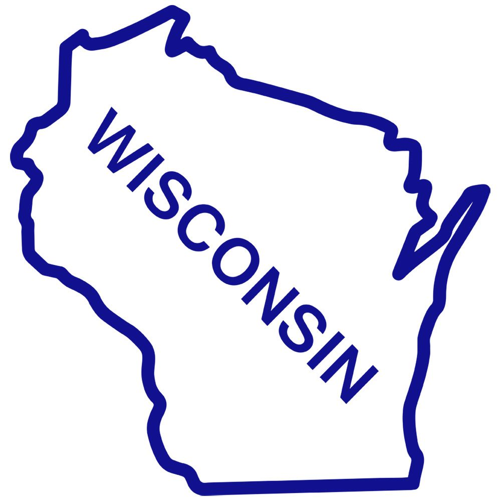 1000x1000 Wisconsin State Outline Clip Art Craft State