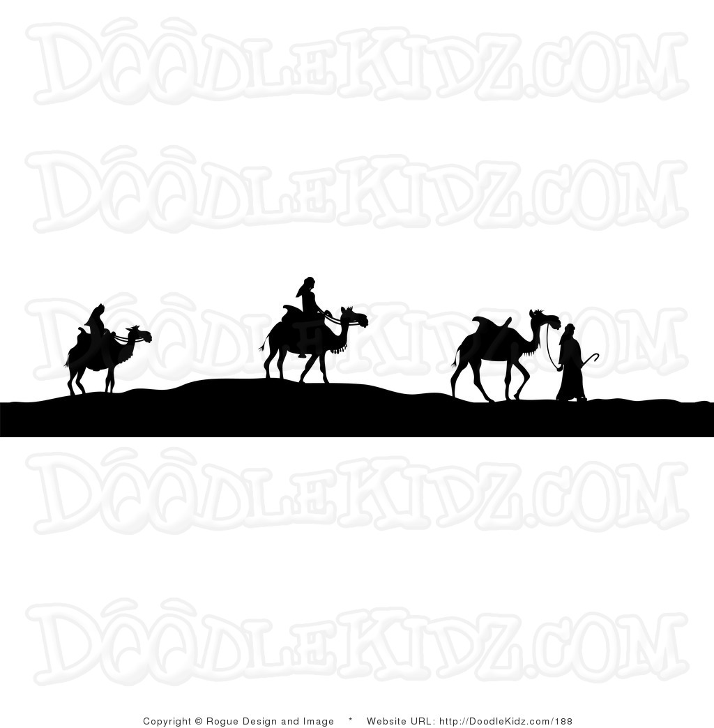 1024x1044 3 Wise Men Silhouette Clipart