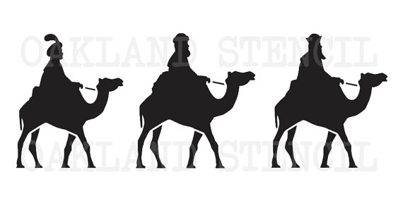 570x285 Christmas Stencil Wise Men Silhouettes 5 Sizes To Choose