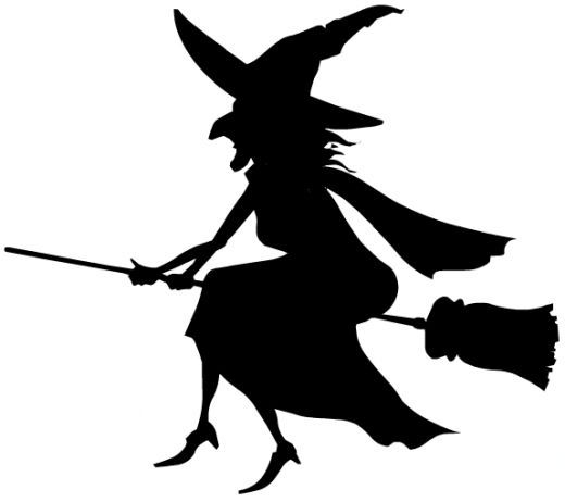 520x462 Witchcraft Clipart Witch Silhouette