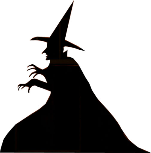 504x511 Halloween Witch Silhouette Clipart