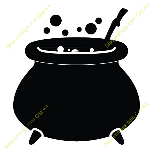 500x500 Witch Cauldron Silhouette Clipart