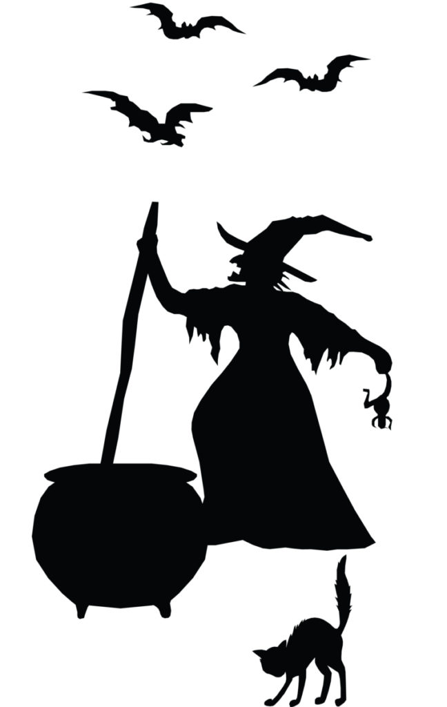 648x1024 Witch Silhouette Vinyl Sticker